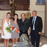 Assessore alla cultura Carmela Caligiuri, la ballerina di danza moderna, M°. Luigi Greco e il sindaco Dott. Luigi Corrado