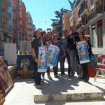 """foto di gruppo con il presidente dell'Associazione """"La terra di Piero"""" Sergio Crocco"""