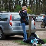 Beim Fotografieren fotografiert.... Tine aus Niedervieland