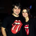 Com minha querida e parceira esposa (2012) - 50 anos dos Stones