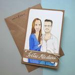Individuelle Grußkarte Hochzeit