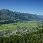 Sommer in Piesendorf > Blick Richtung Oberpinzgau