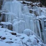 gefrorener Wasserfall Ferleiten