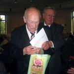 Ehrungen Sängerkreis Niederberg im Haus Oberschlesien - Hösel. Geehrt wurden: Günter Pasold (75 J.), Paul Rhein (75 J.), Willi Janssen (60 J.), Wolfgang Garschke (60 J.) und Heinz van Hall (40 J.)