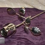 Edelstahlblumen - Edelstahlrose poliert (© Raven Metall Design)