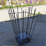 Feuerkorb aus Edelstahl (© Raven Metall Design)