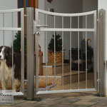 Edelstahltor - Gartentür aus Edelstahl (© Raven Metall Design)