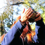 Student Erin learns about smudging