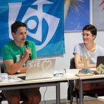 Thiemo und Lisa haben uns souverän durch die Konferenz moderiert.