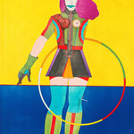Lindner, Richard, Girl with Hoop, aus: Fun City, Original Farblithografie, 1970 / 71, XXXVIII/ LXXV