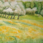 Frühling!, Aquarell, ca. 30 x 40 cm