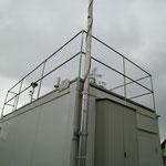 Schutzgeländer auf AWEL-Messstation