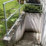 Schutzgeländer Treppenabgang