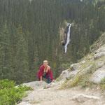 """während sich die """"Jungen"""" auch zum 2. Wasserfall hoch quälen."""