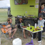 At the beach we had a great time with music,