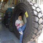 Der Laden für LKW-Reifen