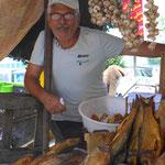 Fischverkäufer am kaspischen Meer