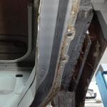 Auch der Träger wurde von Innen wieder aufbereitet,Auch hier sieht man den Rost der in der Naht sitzt