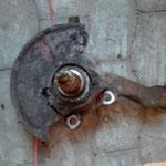 Aufnahme von Oben.Das Bremstaubblech ist nur noch teilweise vorhanden.