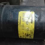 Der Luftfilterbehälter war vor der Aufarbeitung stark verschmutzt und angerostet