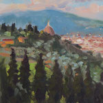 "' View of Florence'.  12"" x 9"" Oil on Panel.  €395"