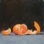 Mandarin. 8x8 inches. Oil on Canvas Panel. SOLD