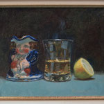 Toby Jug & Hot Toddie . 10 x 12 inches. Oil on Panel.