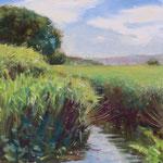 "Little Canal, Castlebridge. Oil on Panel  10"" x 12"""