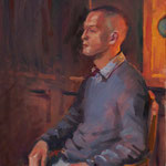 'Darren'. Oil on Canvas