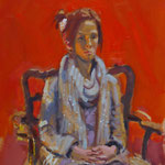 'Red-haired Girl'. Oil Study on Canvas