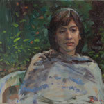 "'Girl from Sardinia'. 11"" x 14"" Oil on Panel. €450"