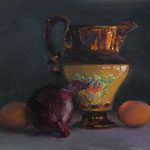 Mrs. Moriarty's Lustre Jug, 10x12 inches. Oil on Panel. SOLD