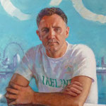 'Billy Walsh, Ireland Olympic Boxing Team Coach'. Oil on Canvas 24 x 20 ins.