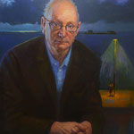 """'Billy Roche, Author, Actor and Musician,' Oil on Canvas 30""""x24"""""""