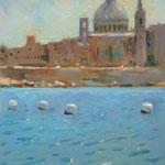 """Valletta. 12"""" x 9"""" Oil on Panel. SOLD"""