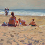 "Day on the Beach 9"" x 12"" Oil on Panel. SOLD"