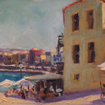 "'Chania'. Oil on panel, 9"" x 12"""