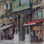 "Republic Street, Valletta. 18"" x 12"". Oil on Panel."