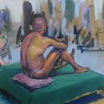 'Life Room at the RHA'. Oil on Canvas
