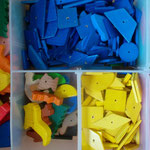 Farblich sortiert- regt Kinder zum Tun an.