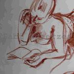 Bild vom Foto zeichnen, Vom Foto ein Original, Kreidezeichnung, Am Strand