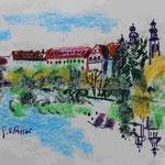 Bild vom Foto zeichnen, Vom Foto ein Original, Kreidezeichnung,  Pielenhofen