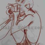 Bild vom Foto zeichnen, Vom Foto ein Original, Kreidezeichnung,  Fotograf