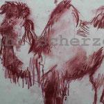 Bild vom Foto zeichnen, Vom Foto ein Original, Kreidezeichnung, Kamel