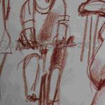 Bild vom Foto zeichnen, Vom Foto ein Original, Kreidezeichnung