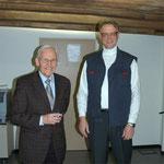 Wolfagng Keller und Fritz Rohrbach bei der Vernissage