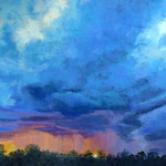 Late Summer Storm, Pastell