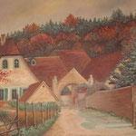 Die Engelsmühle, das Geburtshaus des Künstlers, Oel auf LW