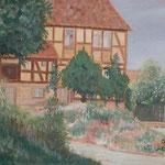 Bauernhaus, Oel auf LW