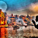Heiliges Wasser des Ganges
